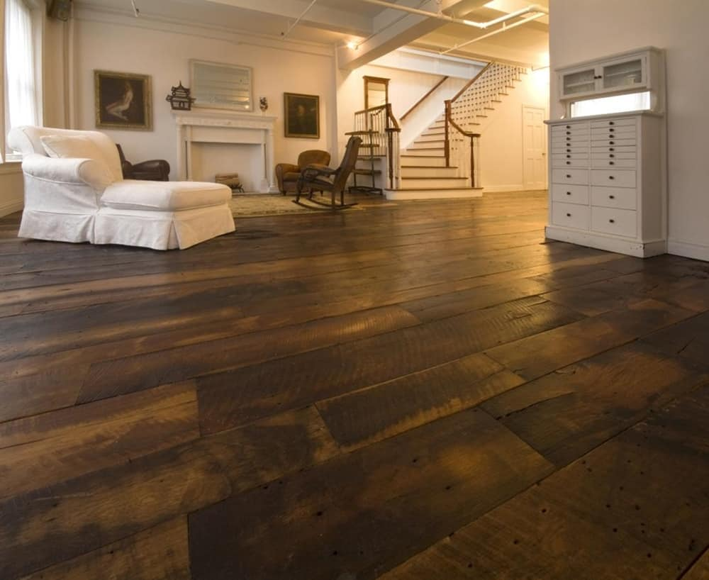 Wide Plank Wood Flooring In Trendy Wide Plank Reclaimed