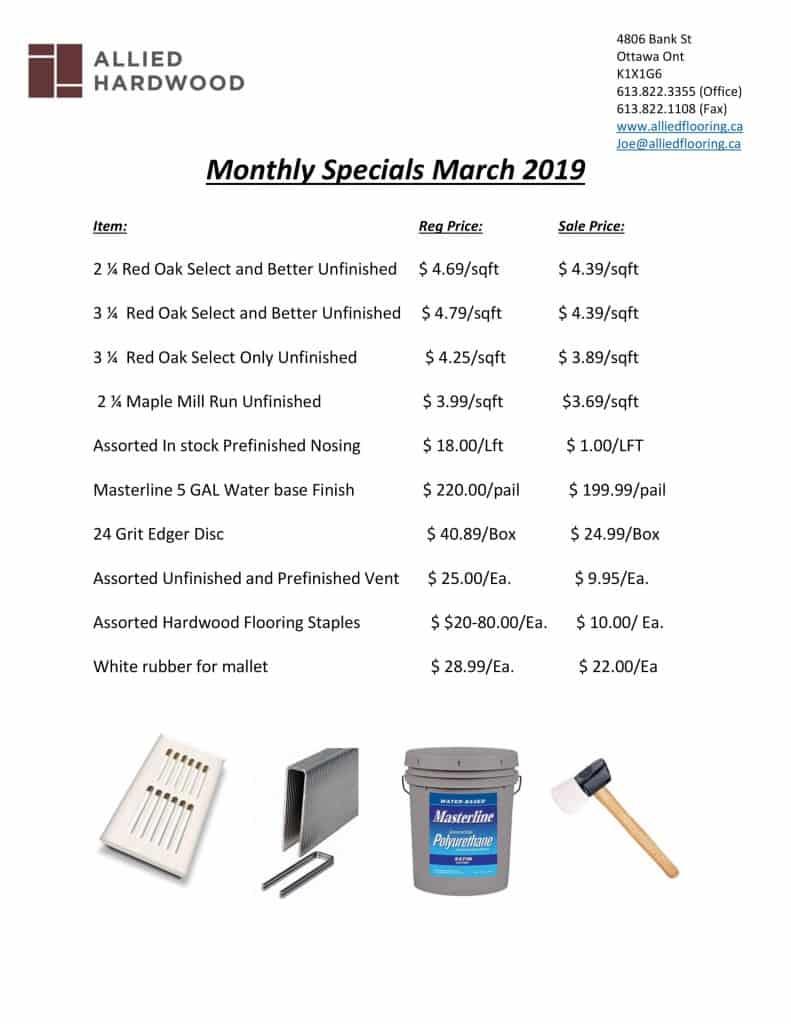 Contractor march special